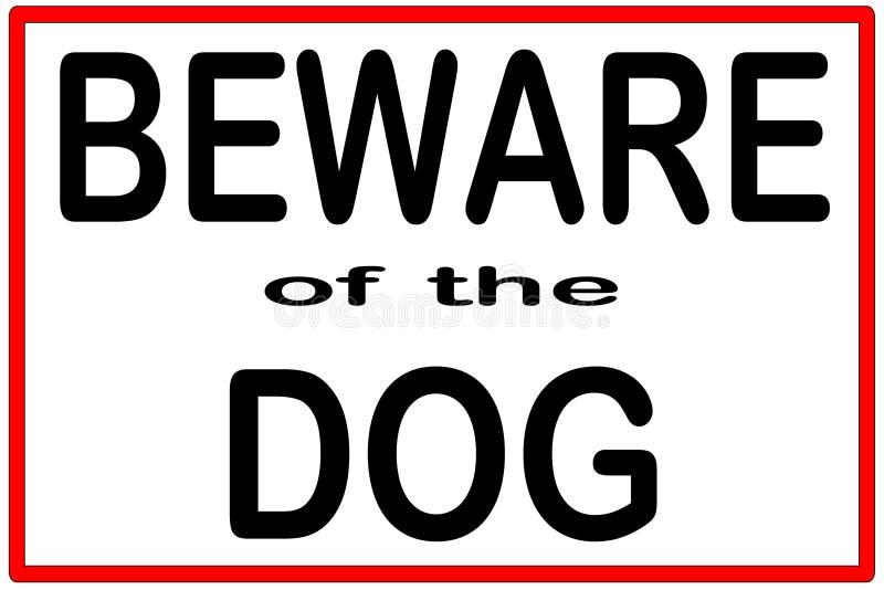 Beware do cão ilustração stock