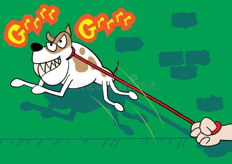 Beware do cão ilustração royalty free