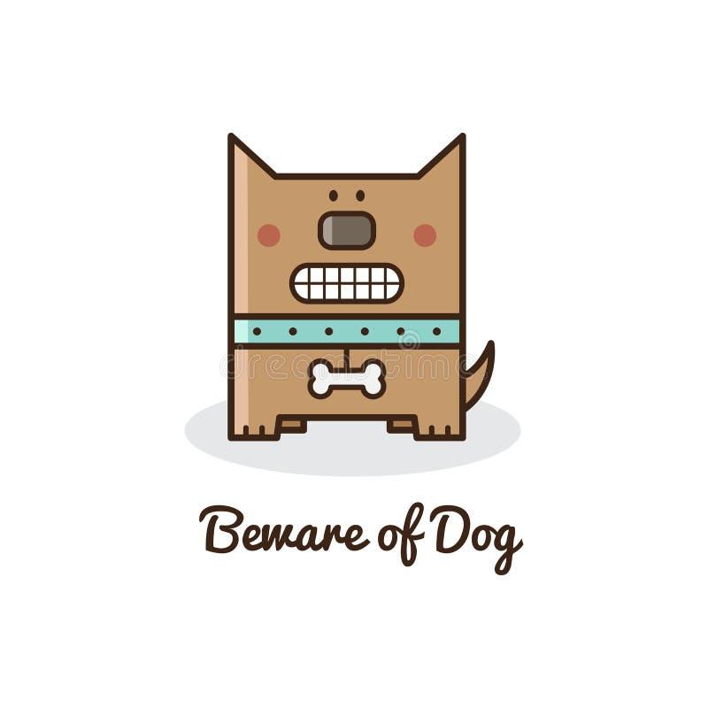 Beware do cão Ilustração do vetor ilustração do vetor