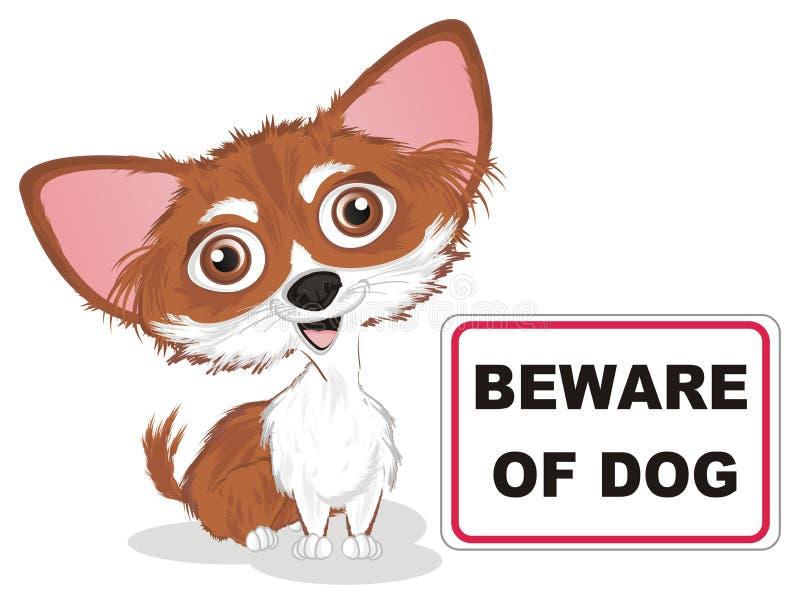 Beware do c?o ilustração royalty free
