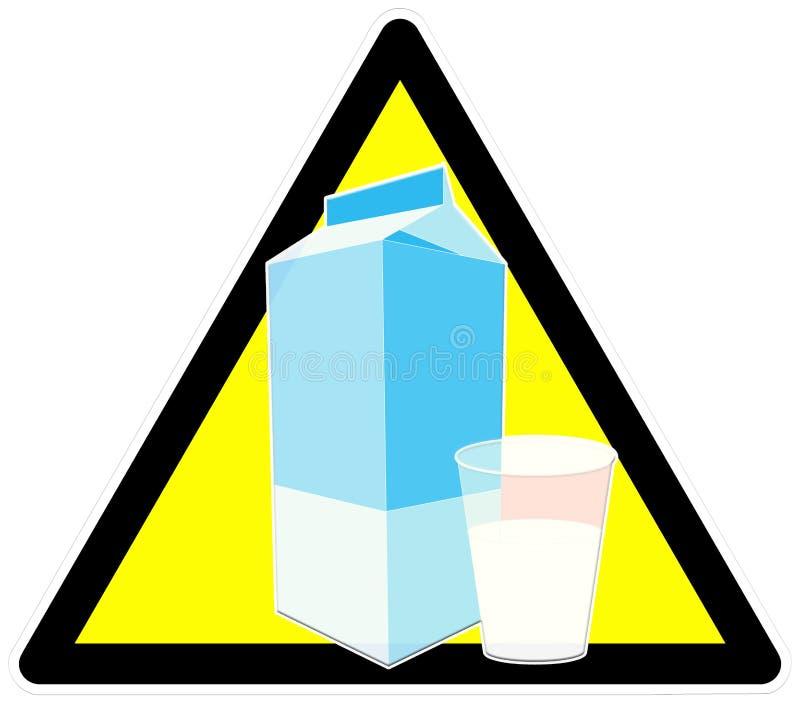 Beware do leite ilustração do vetor