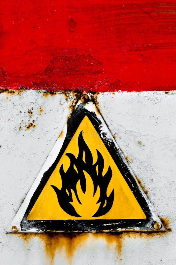 Beware do sinal do incêndio ilustração royalty free