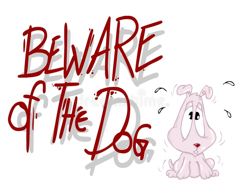 Download Beware of the dog stock illustration. Illustration of comic - 1057091