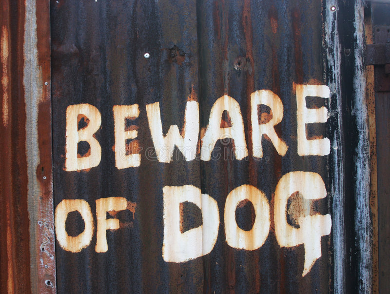 Download Beware of the dog stock image. Image of white, gate, security - 335493