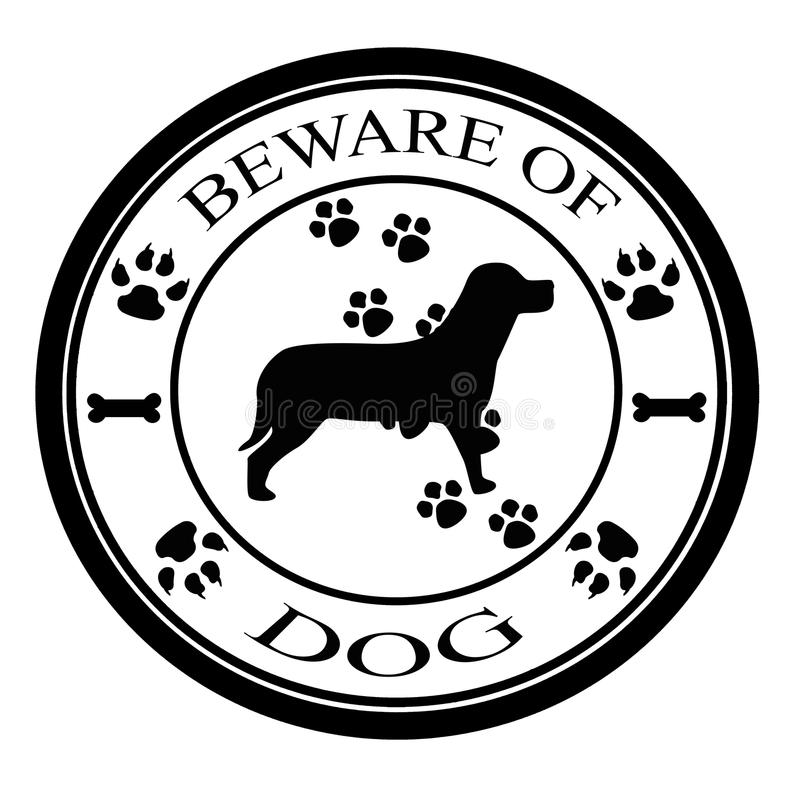 Download Beware of dog stock illustration. Image of dogs, text - 31850907
