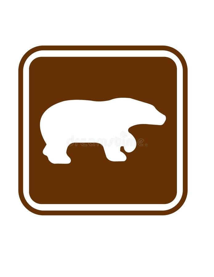 Beware dos ursos ilustração royalty free