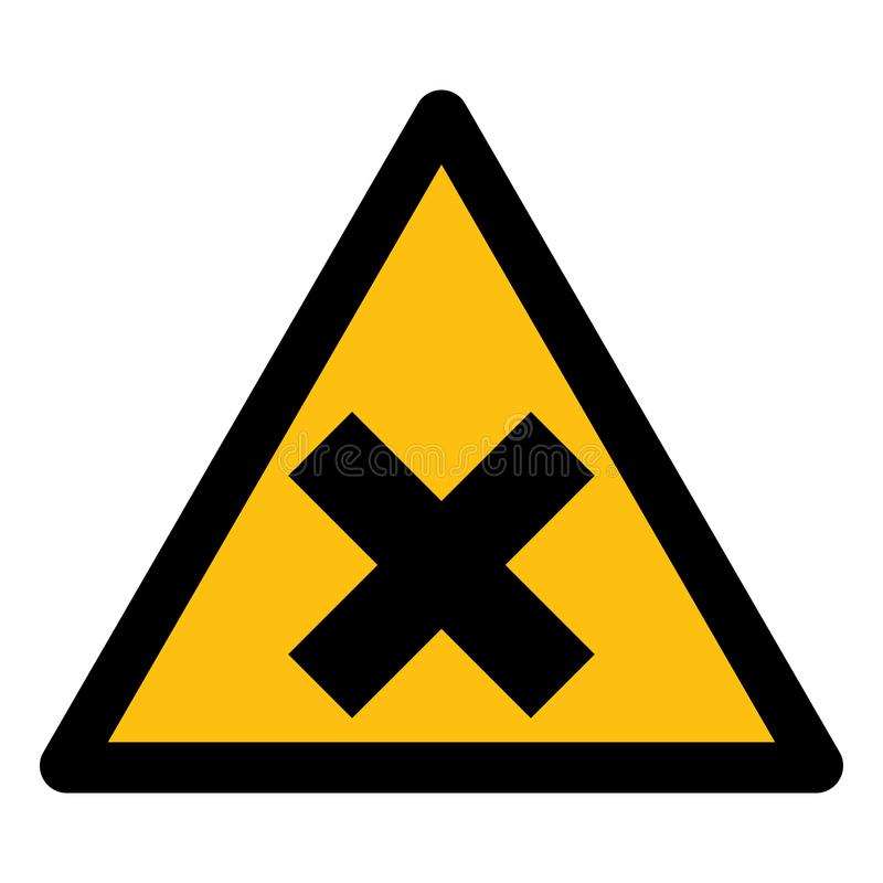 Beware Irritant Symbol Yellow Sign Isolate On White Background,Vector Illustration EPS.10 vector illustration