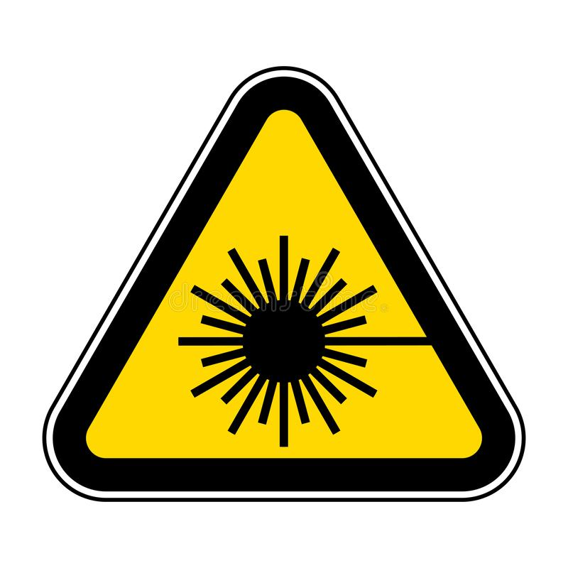 Beware Laser Beam Symbol Sign Isolate On White Background,Vector Illustration EPS.10. Caution, warning, danger, safety, risk, icon, hazard, protection vector illustration