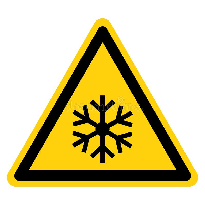 Beware Low Temperature Freezing Conditions Symbol, Vector Illustration, Isolated On White Background Label. EPS10 royalty free illustration
