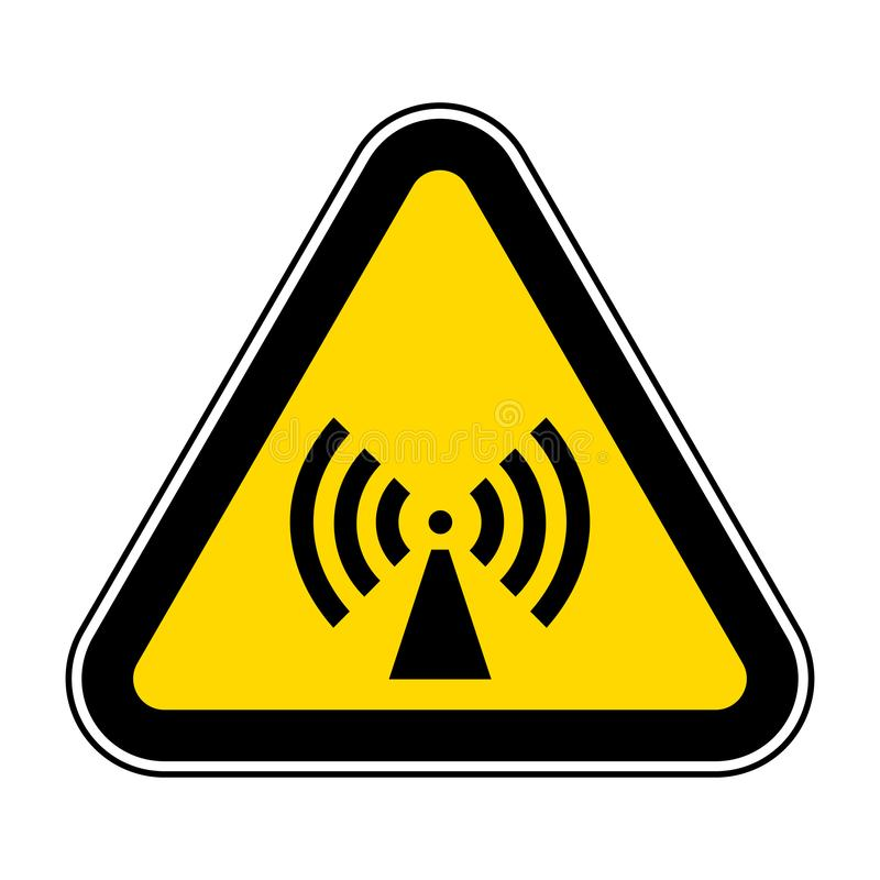 Beware Non-Ionizing Radiation Symbol sign Isolate On White Background,Vector Illustration EPS.10. Warning, caution, hazard, danger, risk, dangerous, label vector illustration