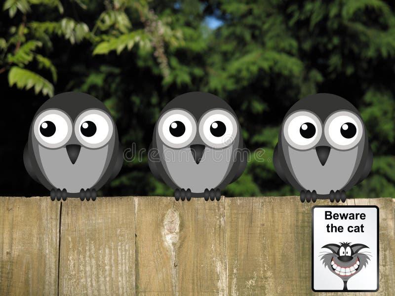 Beware o gato ilustração stock