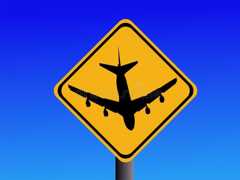 Beware o sinal do aeroporto ilustração stock