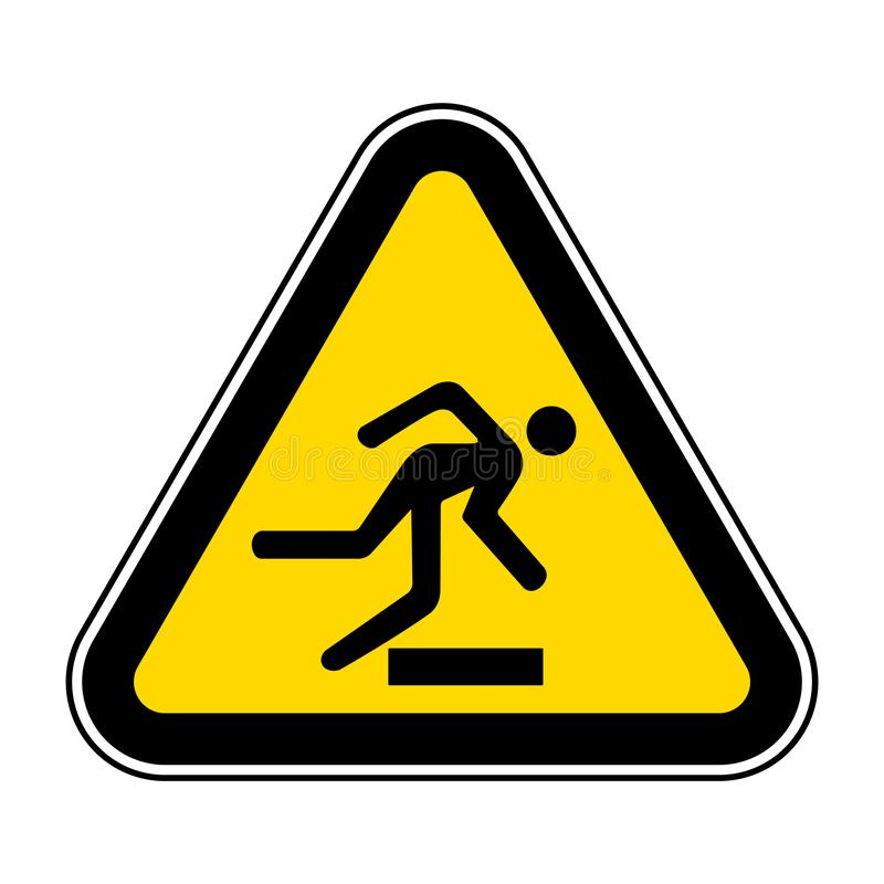 Beware Obstacles Symbol Sign Isolate On White Background,Vector Illustration EPS.10. Hazard, safety, label, sticker, risk, overhead, protection, caution vector illustration