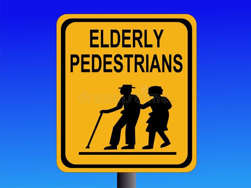 Beware pessoas adultas do sinal ilustração royalty free
