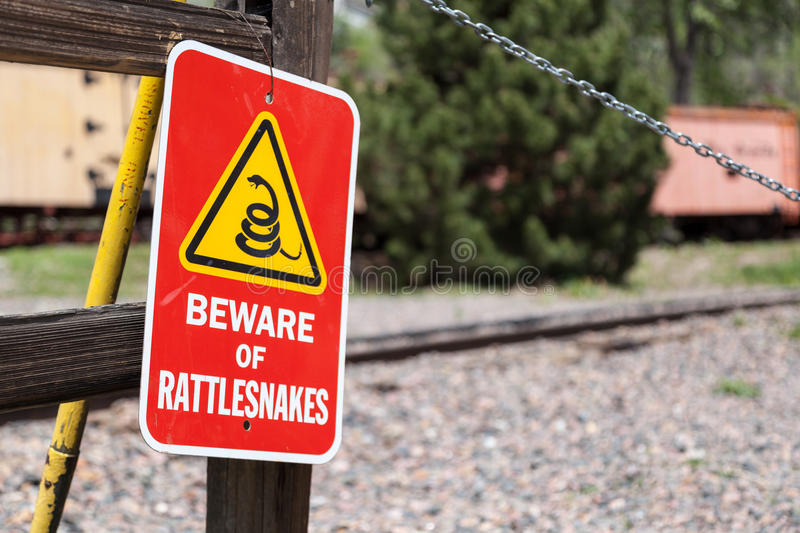 Beware of Rattlesnakes stock photography