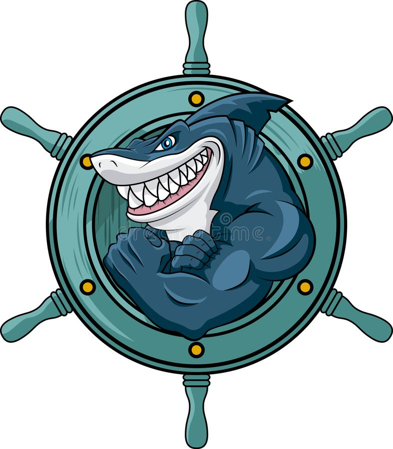 Beware with shark King of the seas royalty free stock photo