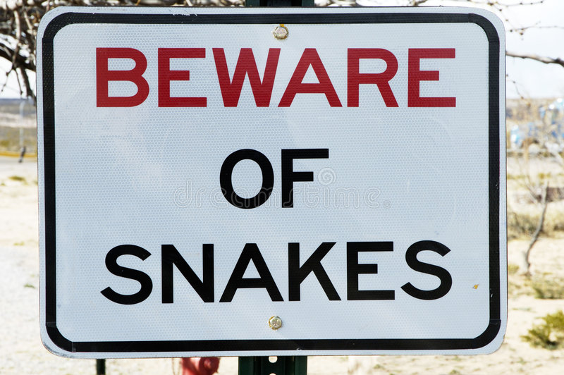 Download Beware Of Snakes Royalty Free Stock Photos - Image: 523528