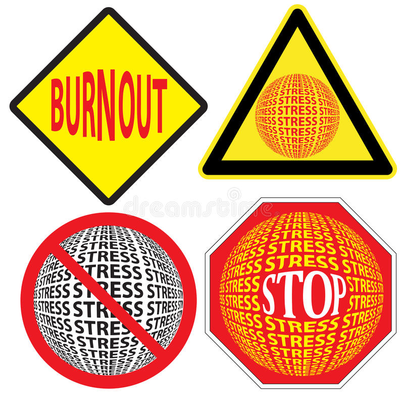 Beware Of Stress And Burnout Stock Photos