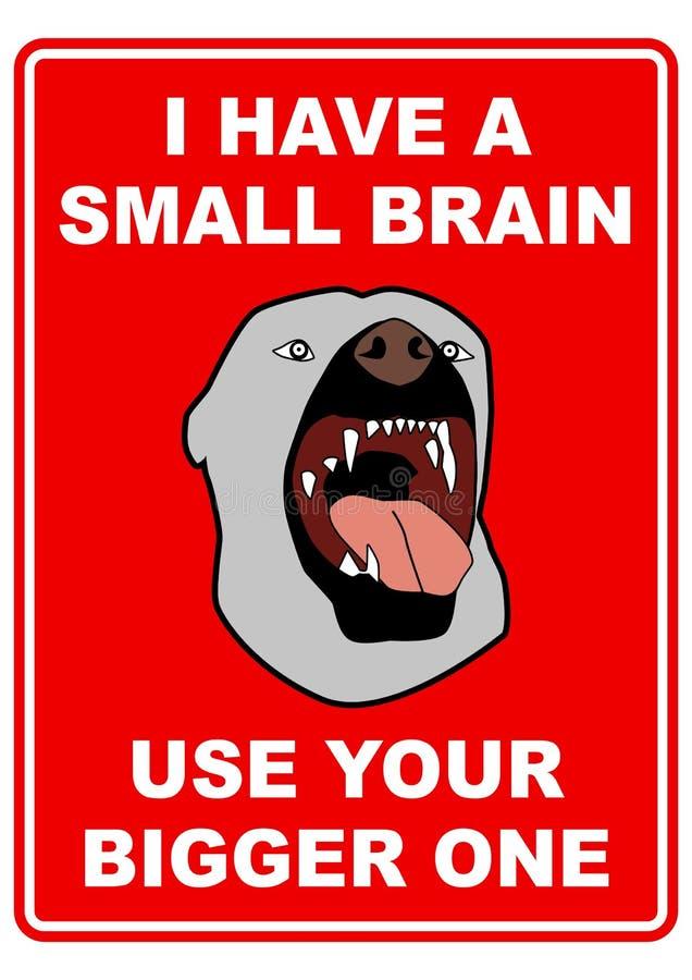 Beware van de hond stock illustratie