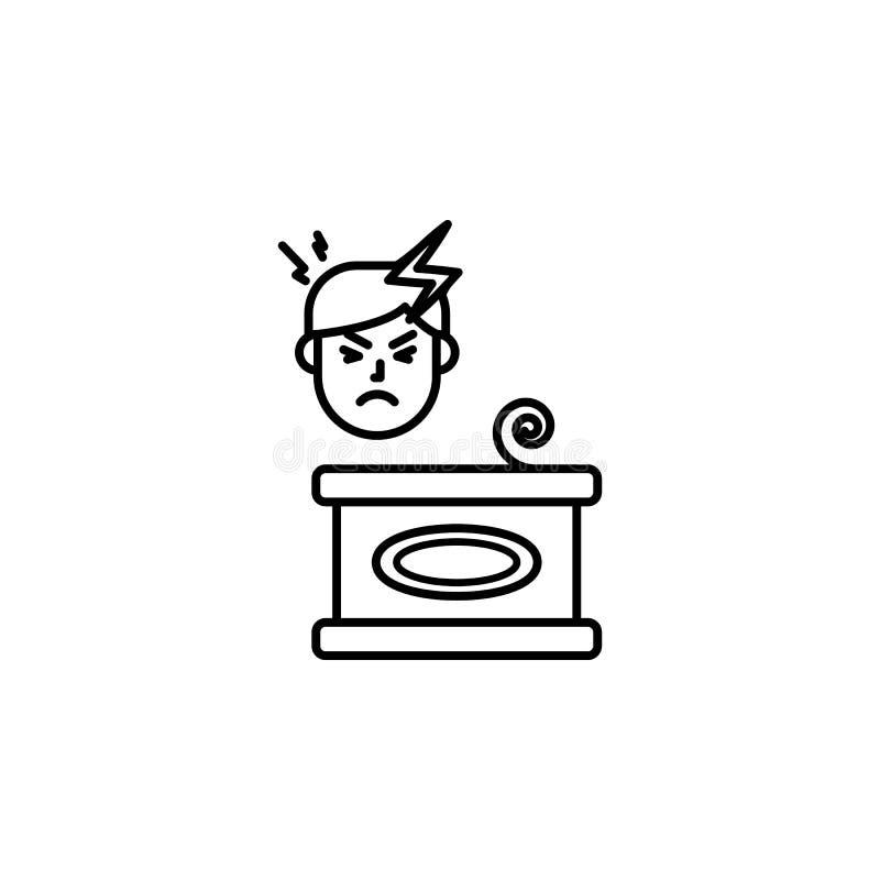 Bewarend, allergisch pictogram Element van problemen met allergieënpictogram Dun lijnpictogram voor websiteontwerp en ontwikkelin stock illustratie