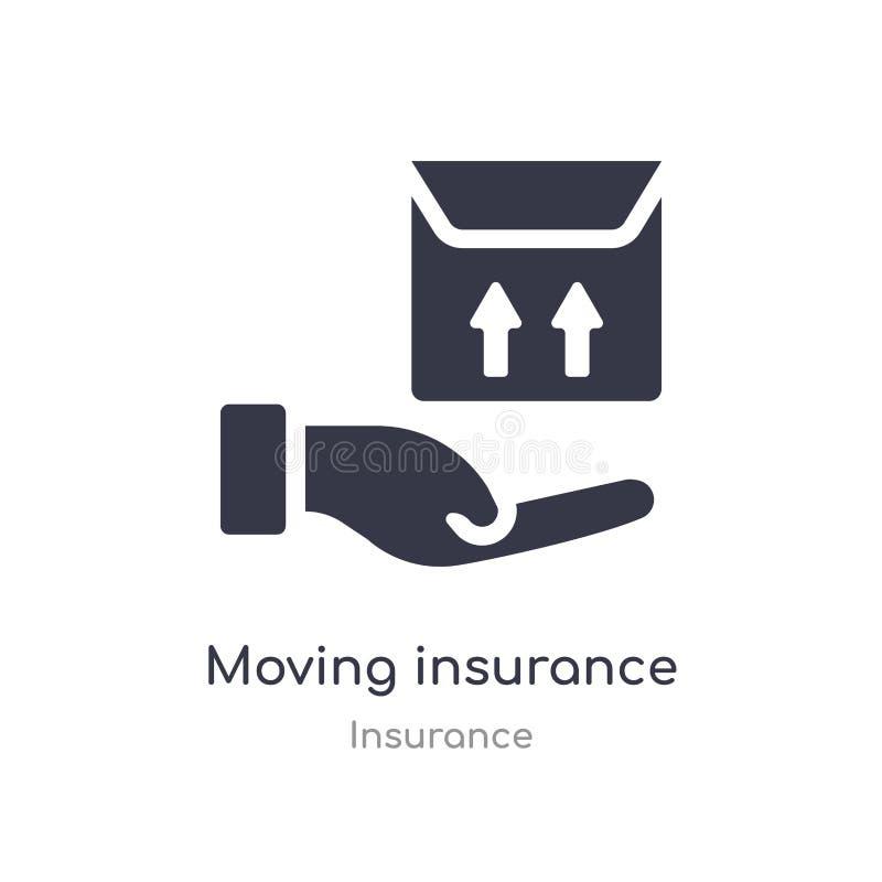 Bewegend verzekeringspictogram de geïsoleerde bewegende vectorillustratie van het verzekeringspictogram van verzekeringsinzamelin stock illustratie