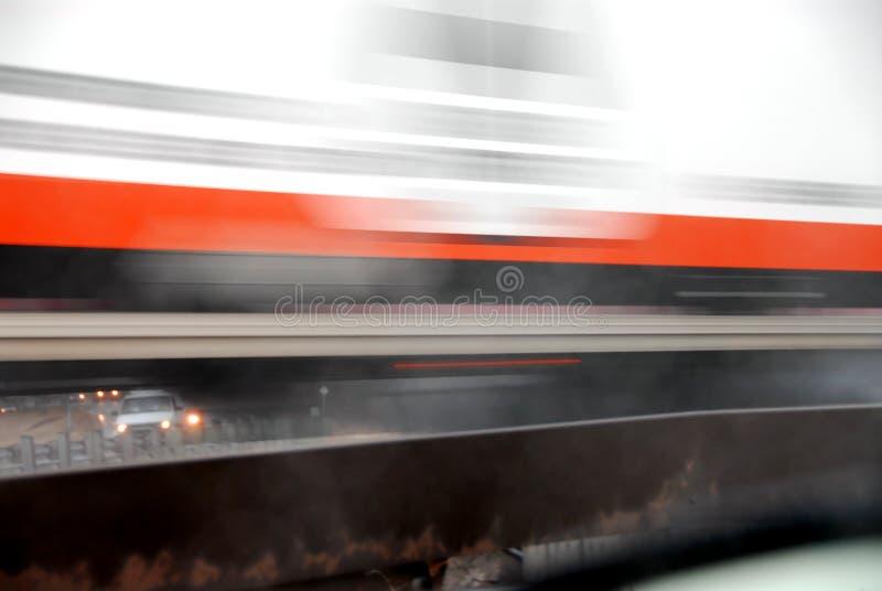 Bewegend vrachtwagenonduidelijk beeld stock fotografie