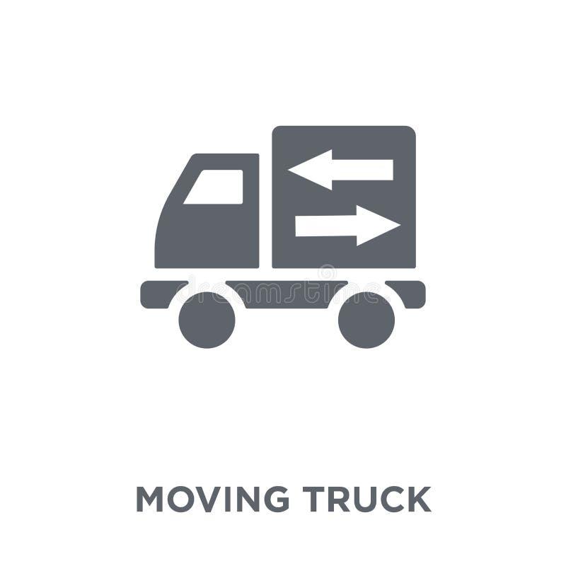 Bewegend vrachtwagenpictogram van inzameling stock illustratie