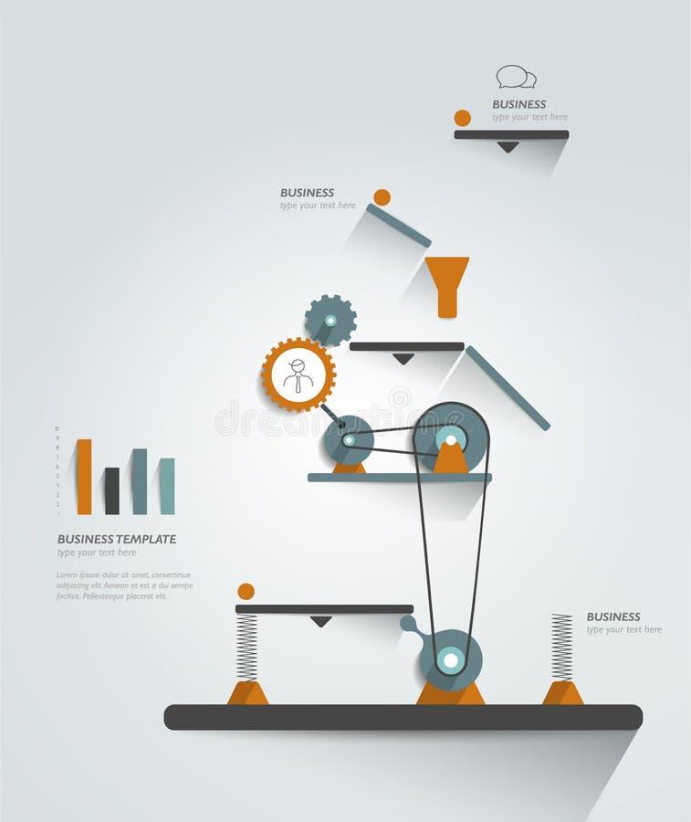 Bewegend werkend mechanisme stock illustratie