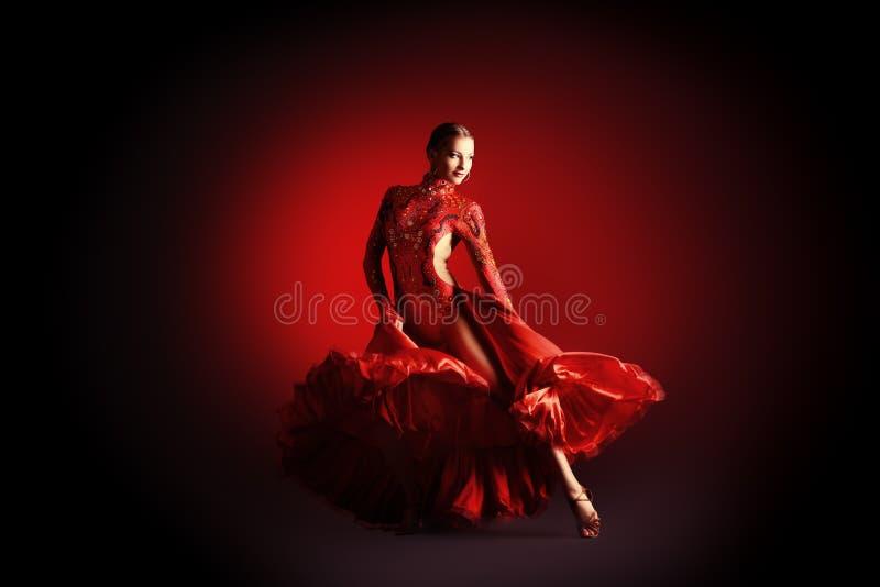 Bewegende danser stock fotografie