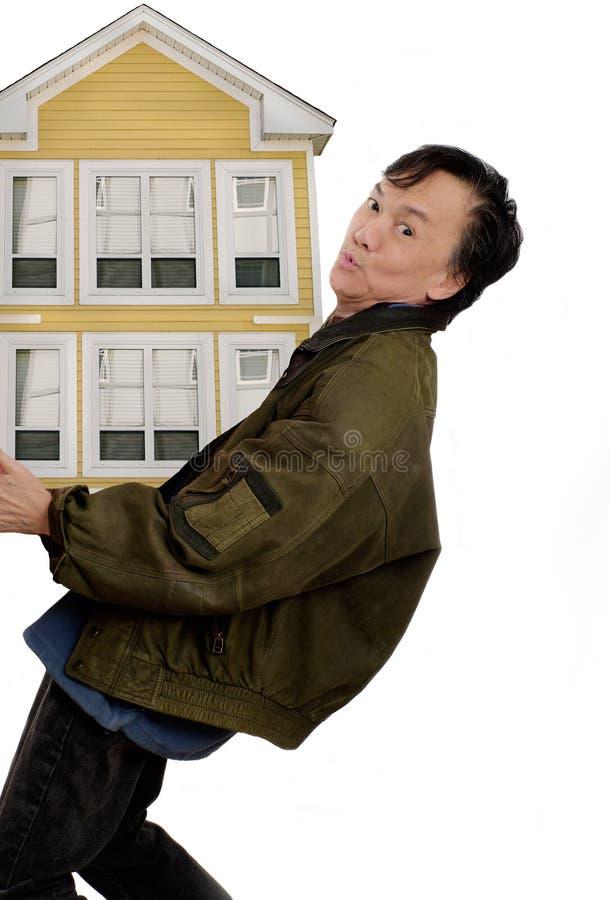 Bewegende huisverhuizing stock afbeelding