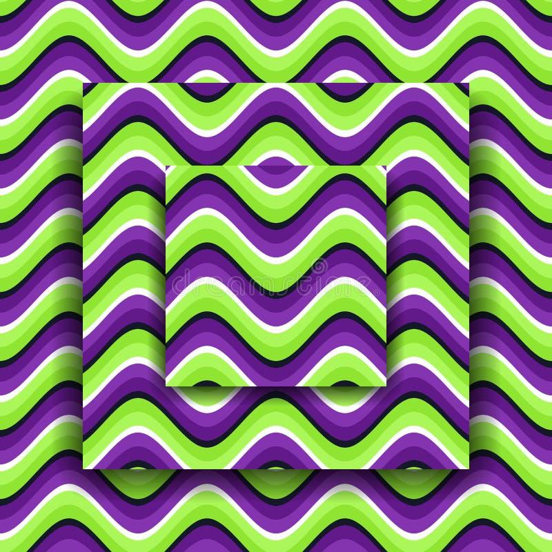 Bewegende platforms met een golvend patroon De Achtergrond van de optische illusie stock illustratie