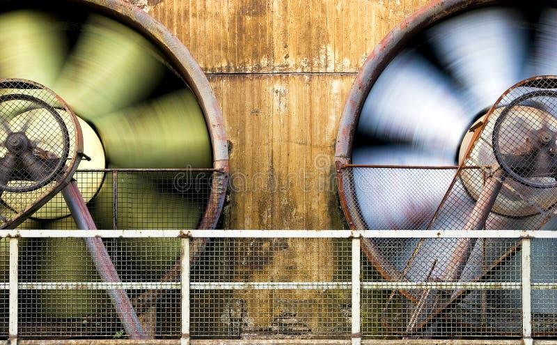 Bewegende ventilators royalty-vrije stock afbeelding
