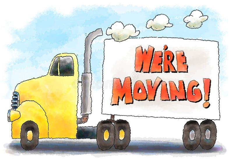 Bewegende vrachtwagen royalty-vrije illustratie