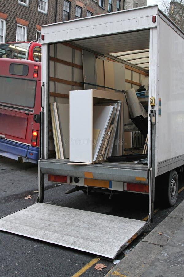 Bewegende Vrachtwagenlift royalty-vrije stock afbeelding