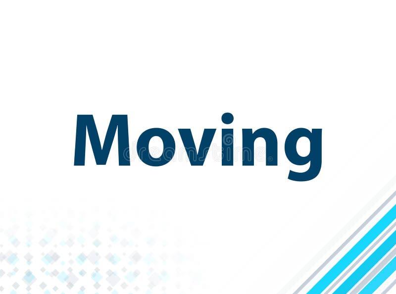 Bewegender moderner flacher Entwurfs-blauer abstrakter Hintergrund lizenzfreie abbildung