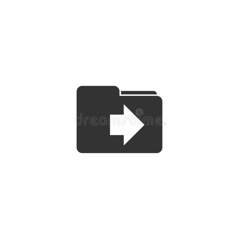 Beweging in omslagpictogram in eenvoudig ontwerp Vector illustratie stock illustratie