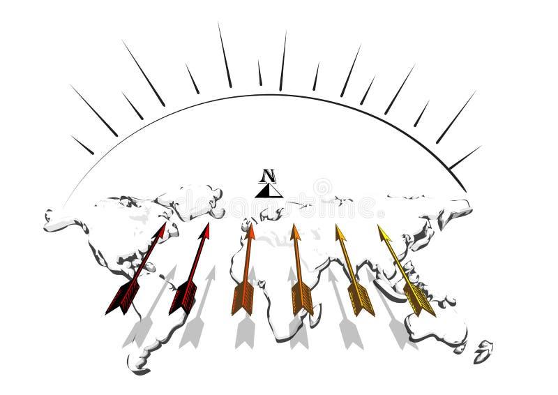 Beweging op het Noorden vector illustratie