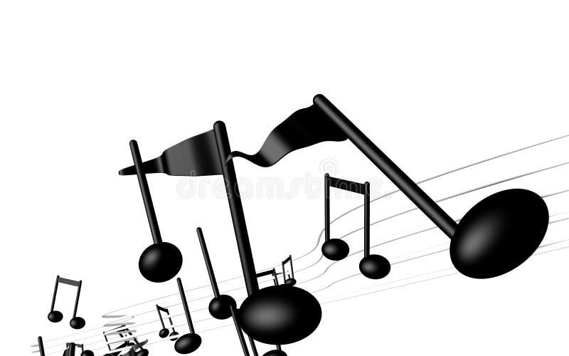 Beweging veroorzakende muziek royalty-vrije illustratie