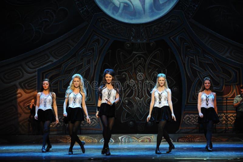 Bewegingsritme-De Ierse Nationale Danstapdans royalty-vrije stock fotografie