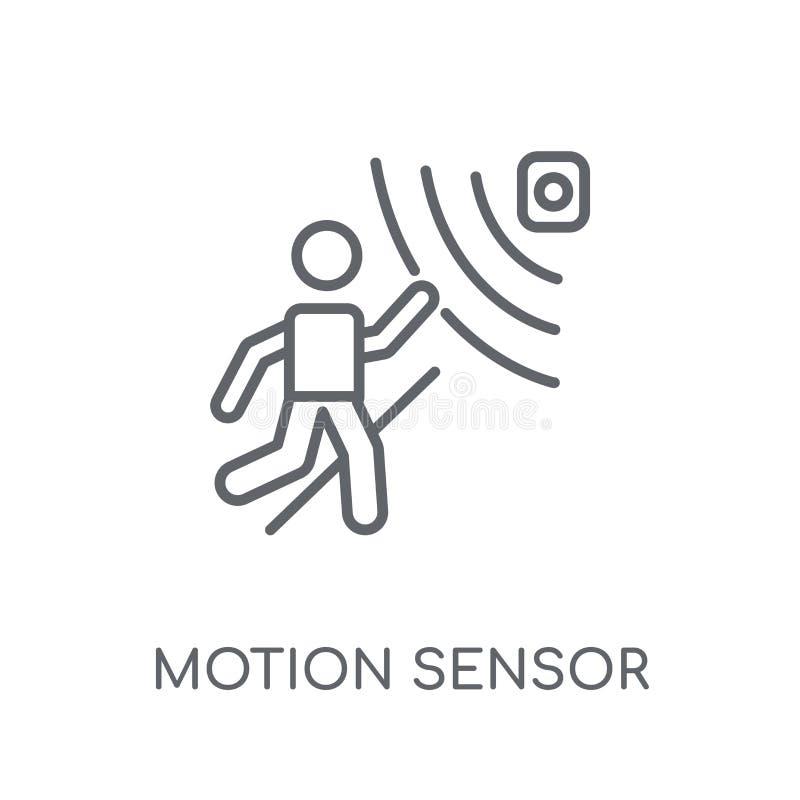 Bewegingssensor lineair pictogram Het moderne embleem van de overzichtsbewegingssensor bedriegt stock illustratie
