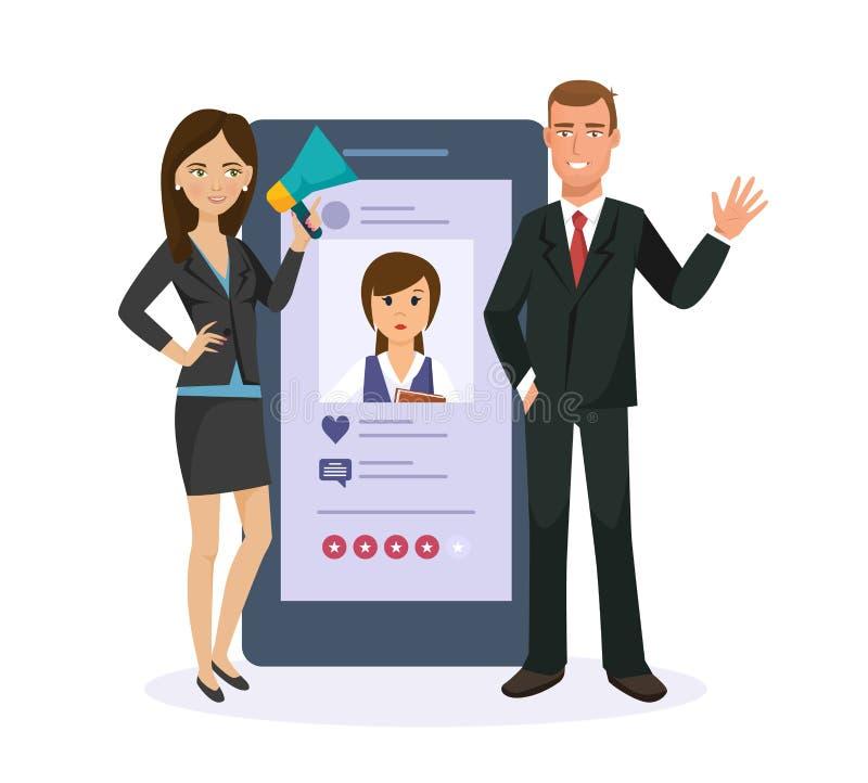 Bewegliche Anwendungen SMS-Mitteilung, E-Mail Soziales Netz, Systembewertungsfoto lizenzfreie abbildung