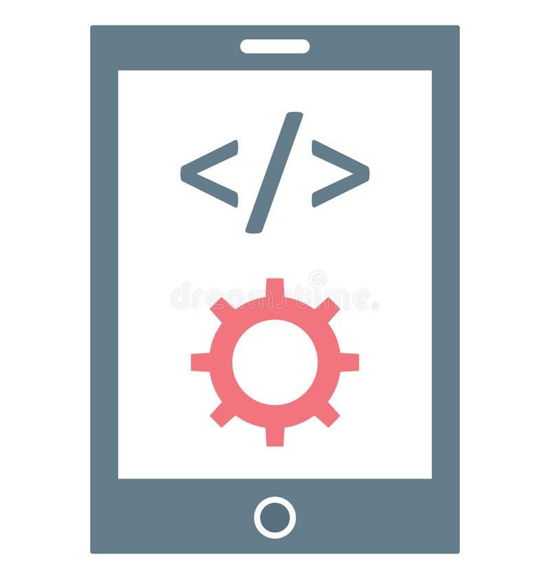 Bewegliche APP-Entwicklung, bewegliche Div.-Vektor-Ikone editable vektor abbildung