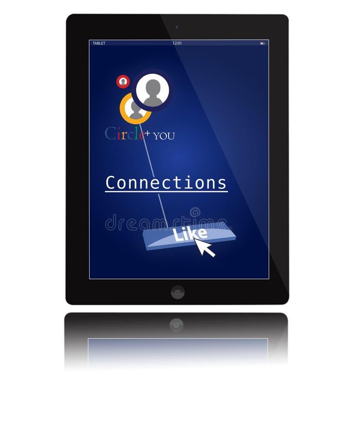 Bewegliche Einheit der IPad Tablette lizenzfreie abbildung