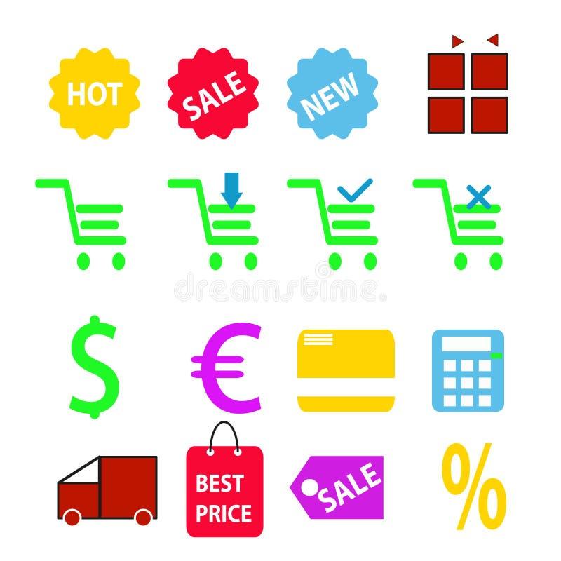 Bewegliche Einkaufsillustration stock abbildung