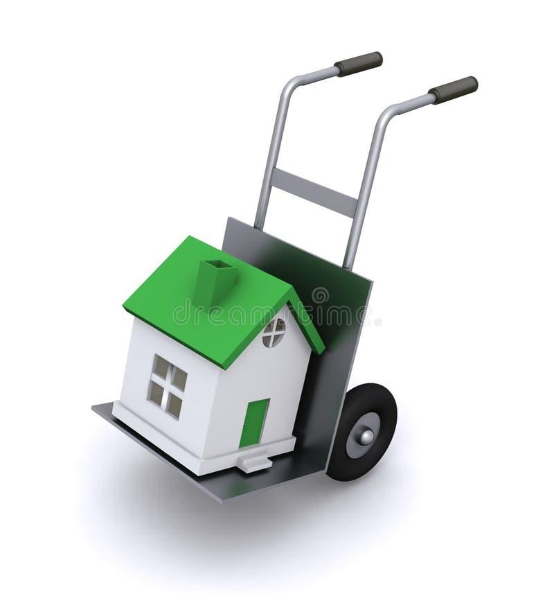 Bewegliche Häuser lizenzfreie abbildung