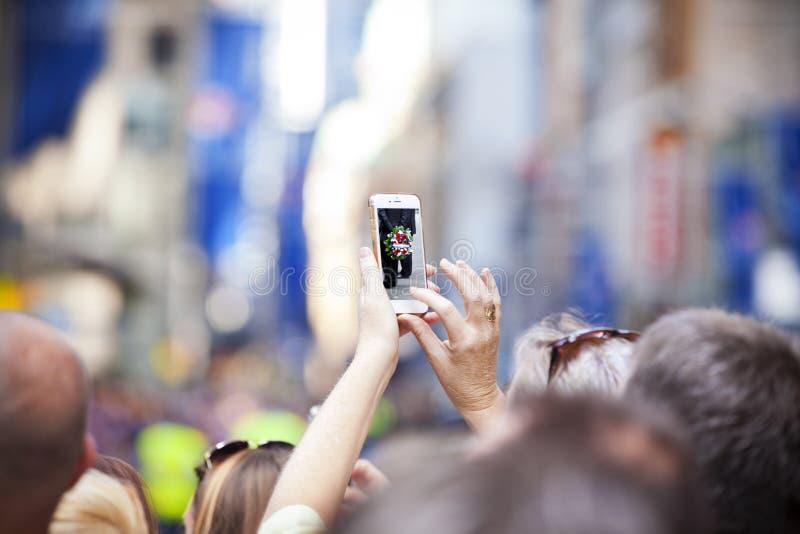 Bewegliche Handy-Fotografie stockfotos
