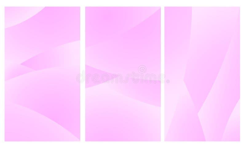 Bewegliche Tapetenzusammenfassungshintergrund geometric_Pink Farbe lizenzfreie abbildung