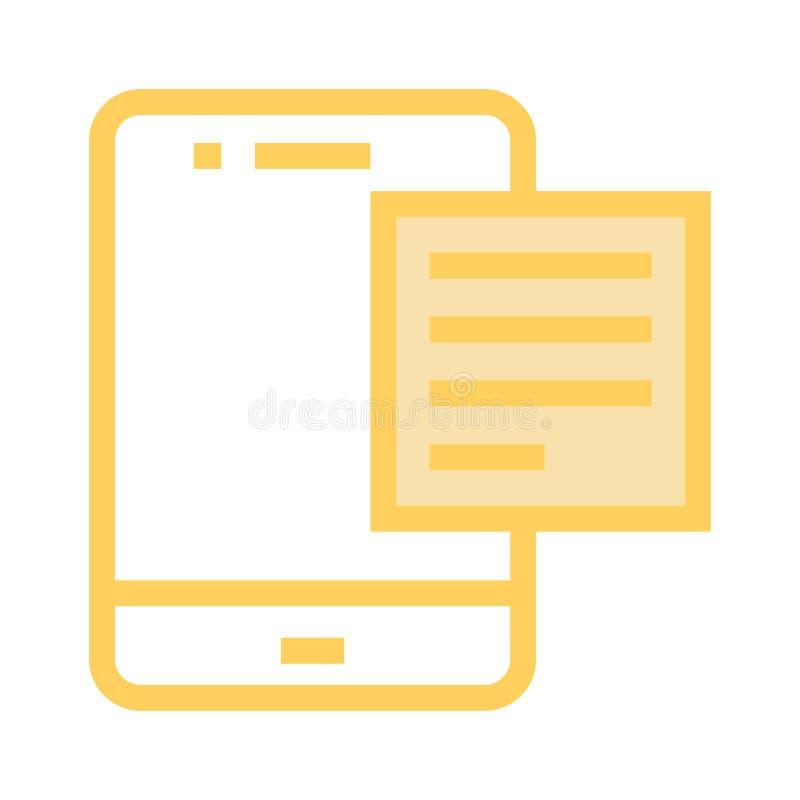 Bewegliche Textfarblinieikone lizenzfreie abbildung