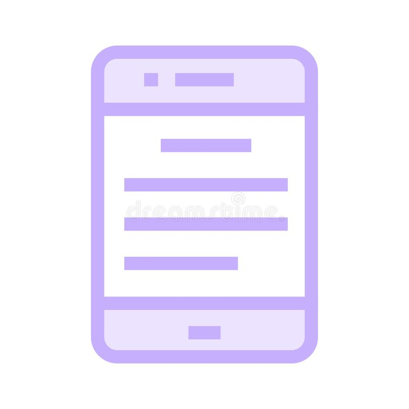 Bewegliche Textfarblinieikone stock abbildung
