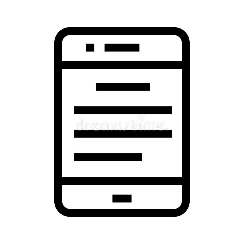 Bewegliche Textlinie Ikone lizenzfreie abbildung